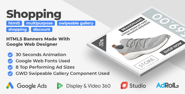 Browsing HTML5 Banners with GWD Swipeable Gallery  – PHP Script Download