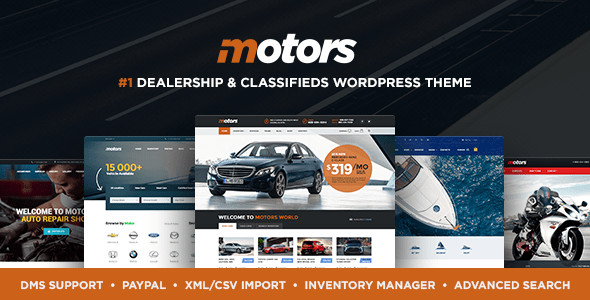 Motors – Vehicle Vendor, Condominium & Classifieds WordPress theme  – WP Theme Download