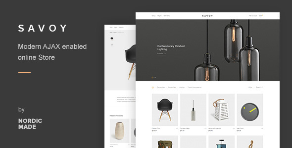 Savoy – Minimalist AJAX WooCommerce Theme  – WP Theme Download