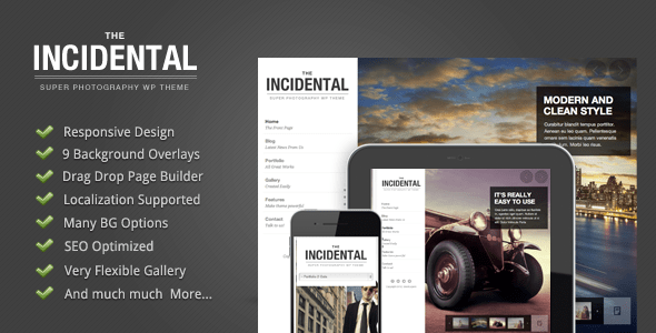 Incidental – High Class Photography WP Theme – WP Theme Download