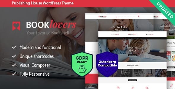 Booklovers – Publishing House & Book Retailer WordPress Theme – WP Theme Download