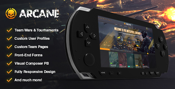 Arcane – The Gaming Crew Theme – WP Theme Download