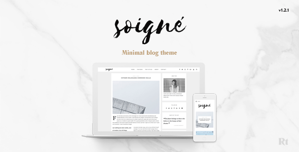 Soigne – A Responsive Minimal WordPress Weblog Theme – WP Theme Download