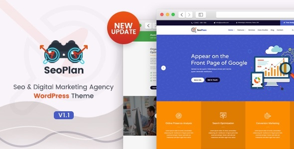 SeoPlan & Digital Marketing Company WordPress Theme – WP Theme Download