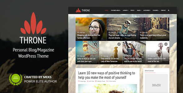 Throne – Personal Blog/Magazine WordPress Theme – WP Theme Download
