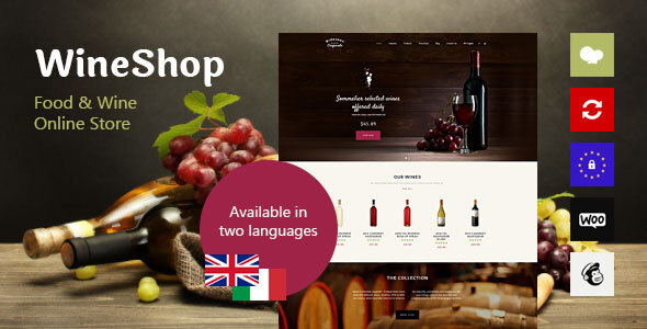 WineShop – Food & Wine On-line Retailer WordPress Theme – WP Theme Download