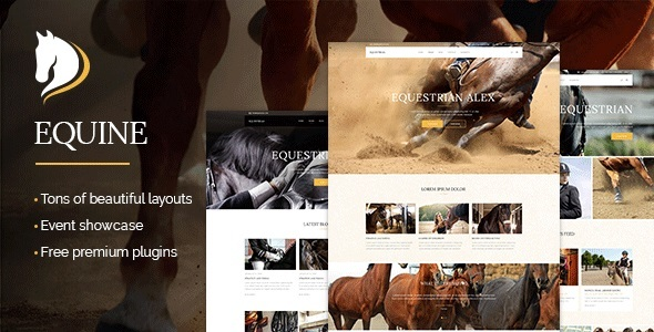 equine an equestrian and horse riding membership theme download