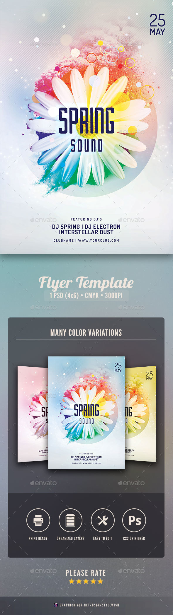 Flyers PSD – Spring Sound Flyer – Download