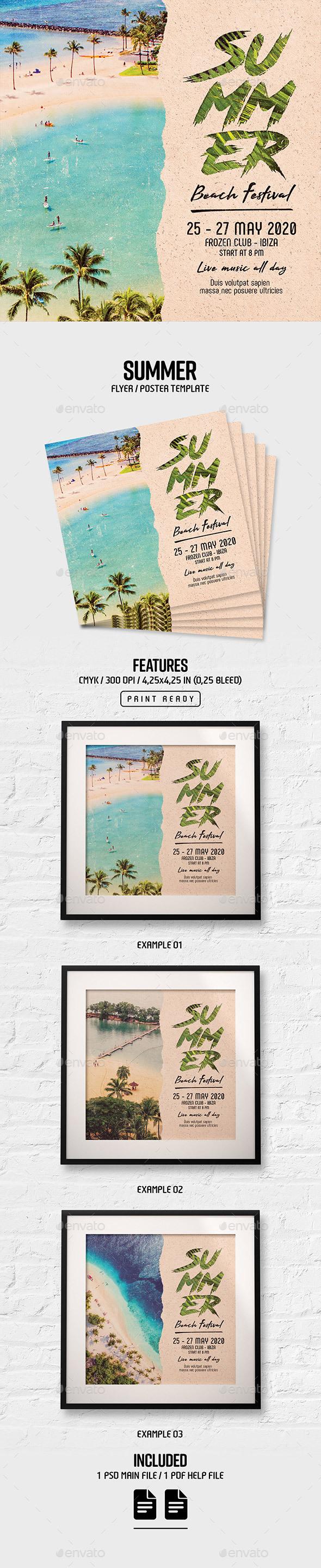 Flyers PSD – Summer Flyer/Poster – Download