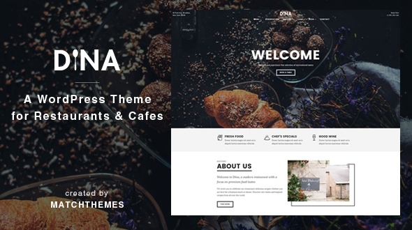 Dina – Restaurant, Bar, Cafe, Food WordPress Theme – WP Theme Download