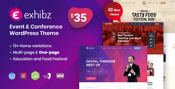 Exhibz | Event Conference WordPress Theme – WP Theme Download