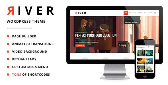 River – Retina Multi-Aim WordPress Theme  – WP Theme Download