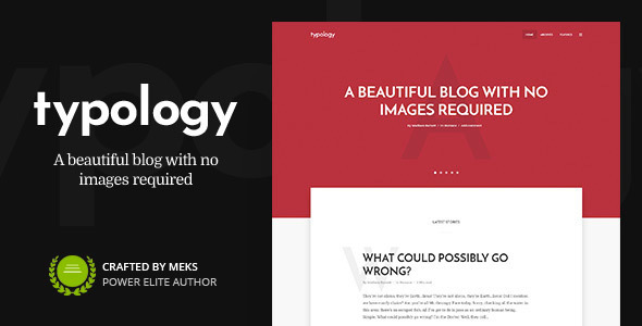 Typology – Text Based Minimal WordPress Blog Theme – WP Theme Download