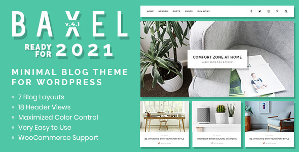 Baxel – Minimal Weblog Theme for WordPress – WP Theme Download