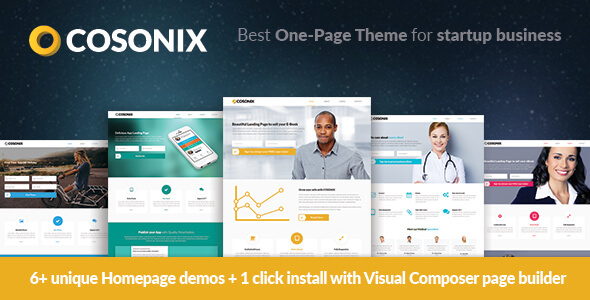 cosonix one page theme for ebook app and company download