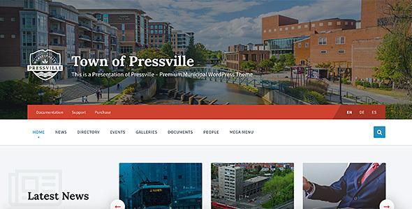 Pressville – Uncommon WordPress Theme for Municipalities  – WP Theme Download