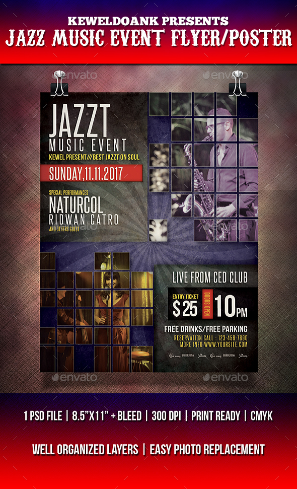 jazz tune event flyer poster download