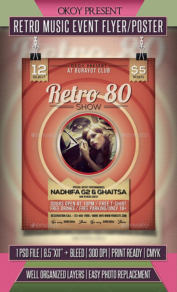 retro tune match flyer poster download