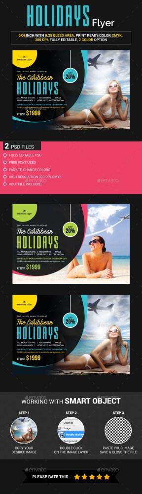 caribbean holidays flyer download