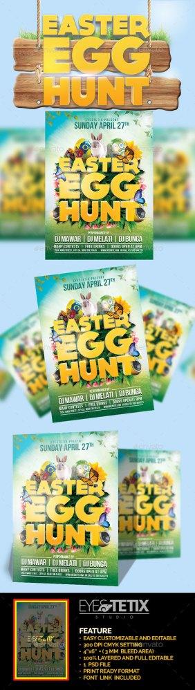easter egg hunt flyer template download