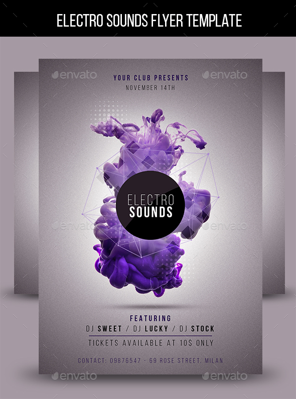 electro sounds flyer template download