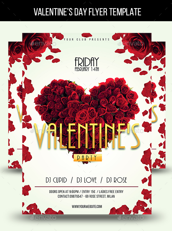 valentines day flyer template download