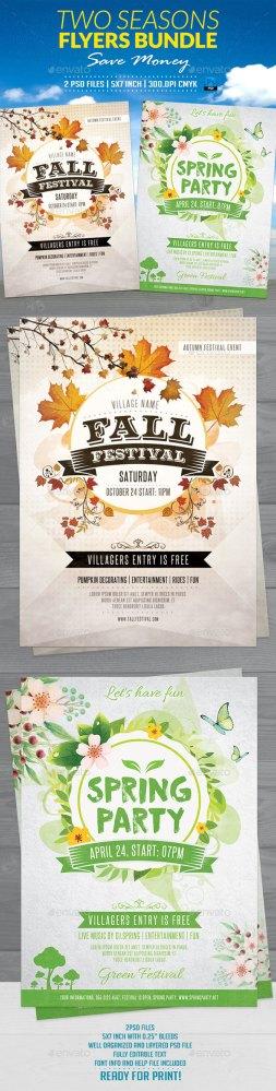 two seasons flyers bundle download
