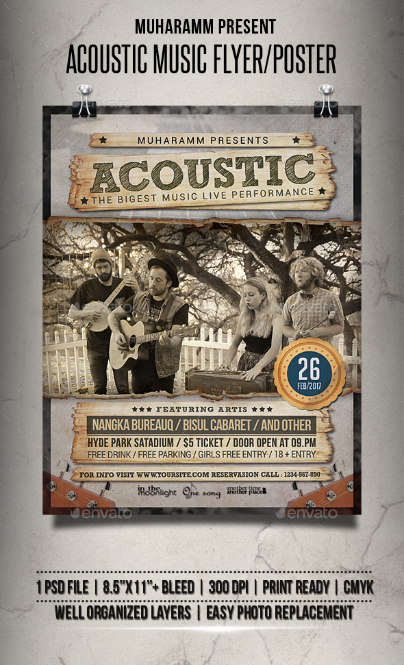 acoustic song flyer poster download