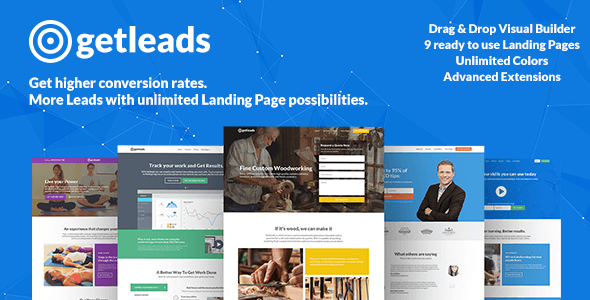 getleads high efficiency landing page wordpress theme download
