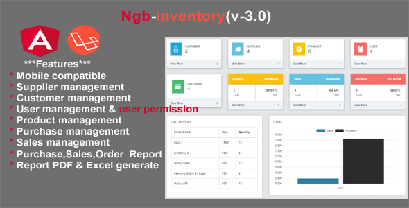 inventory angular 8 + laravel 5.6 – Download