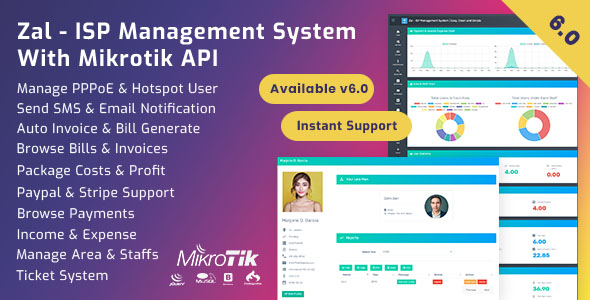 Zal – ISP Management Machine With Mikrotik API – Download