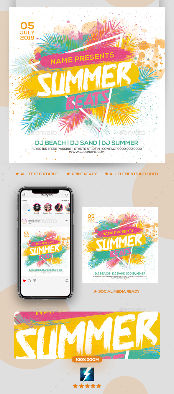 Flyers PSD – Summer Beats Rep together Flyer – Download