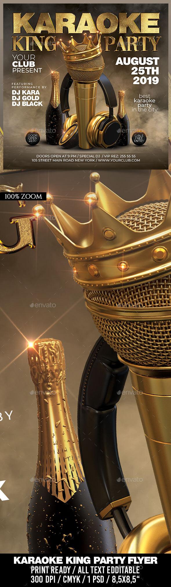 Flyers PSD – Karaoke King Event – Download