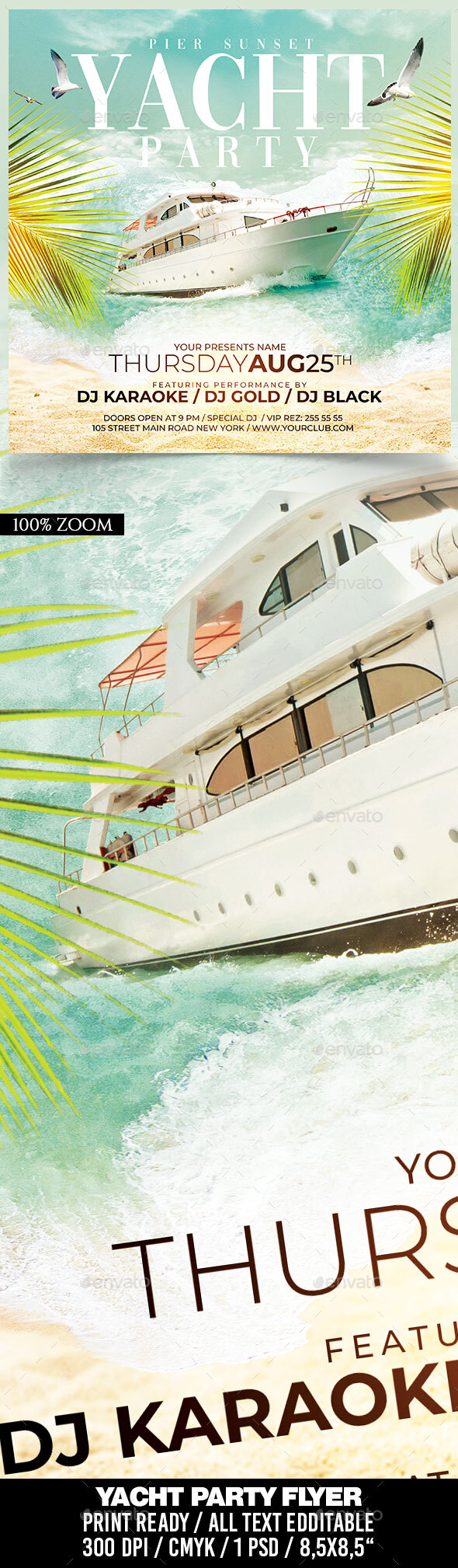 Flyers PSD – Yacht Rating collectively Flyer – Download