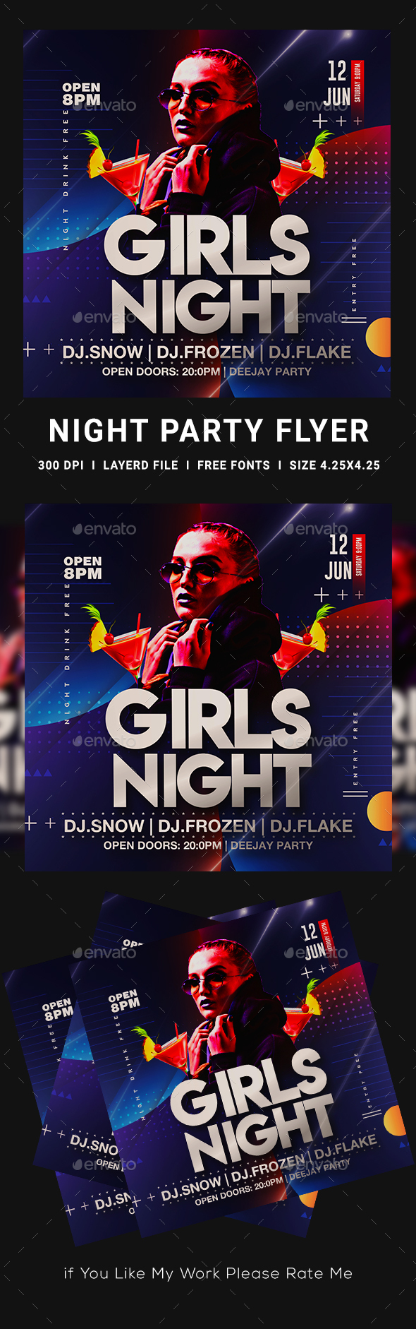 Flyers PSD – Females Night Flyer Template – Download