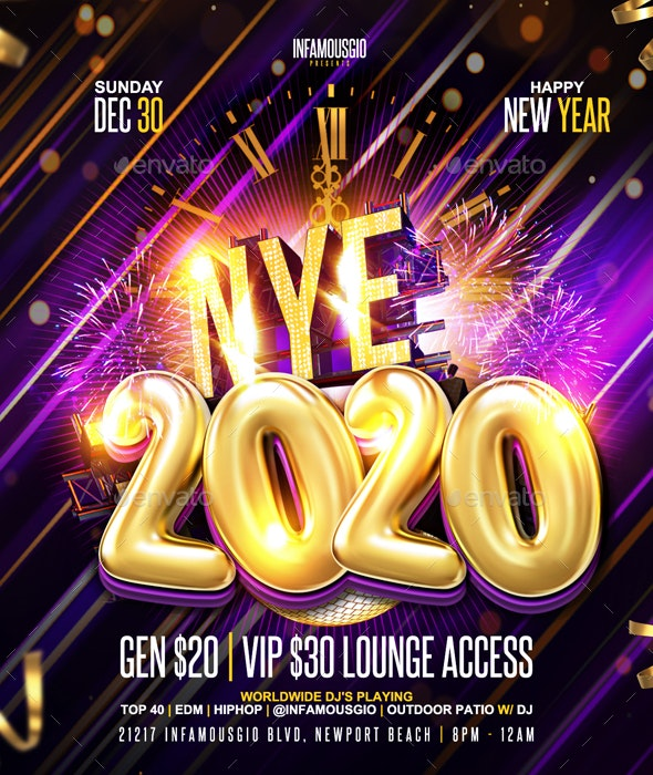 New Year 2020 Flyer