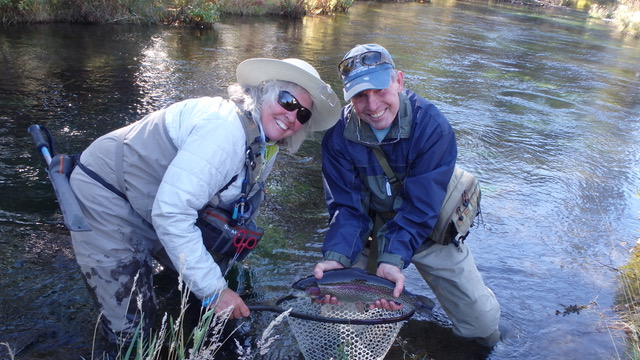Mary Ann and her client on the Fall River October 3rd.