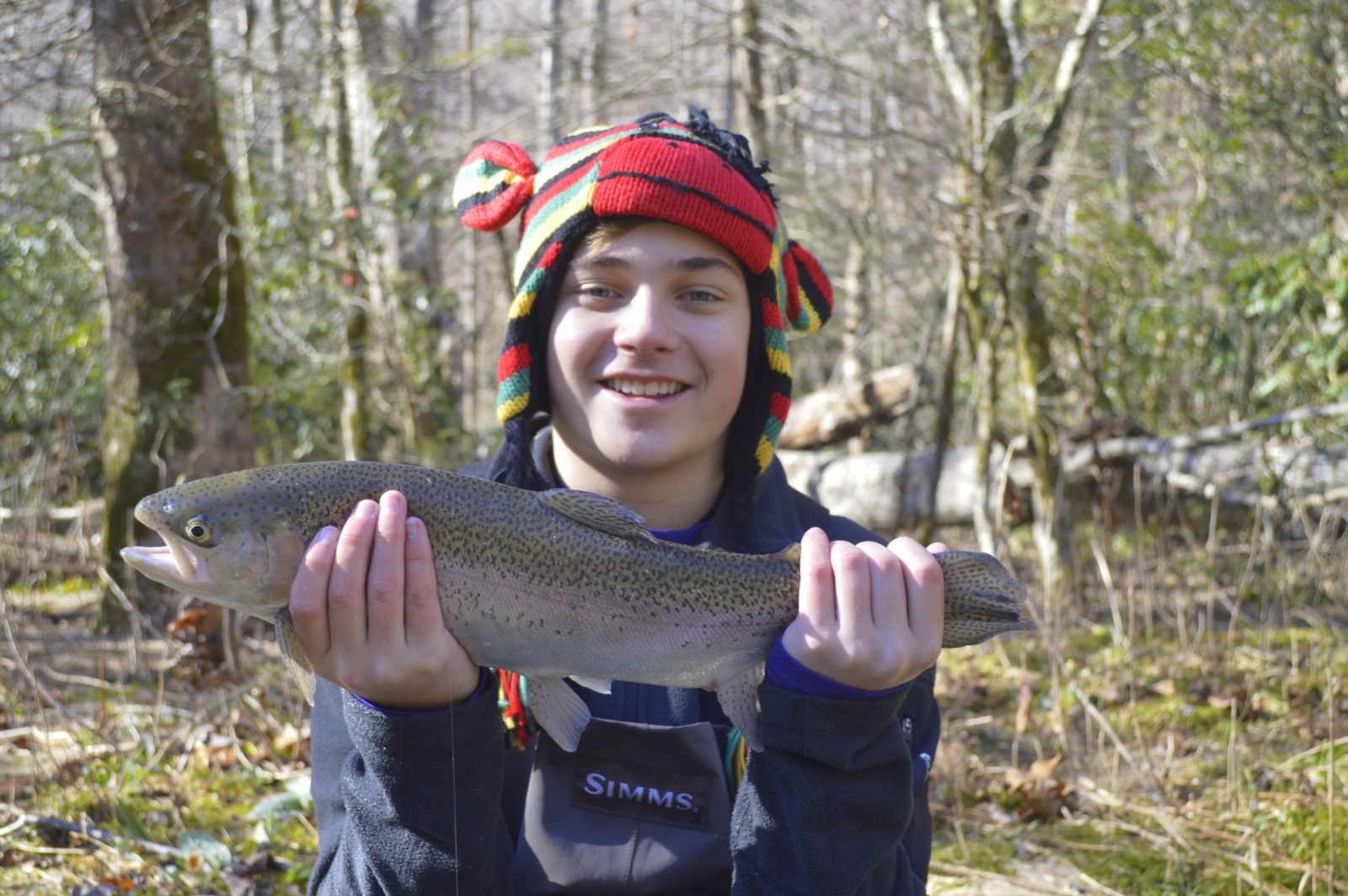 Winter trophy trout special fly fishing smoky mountains for Smoky mountain trout fishing