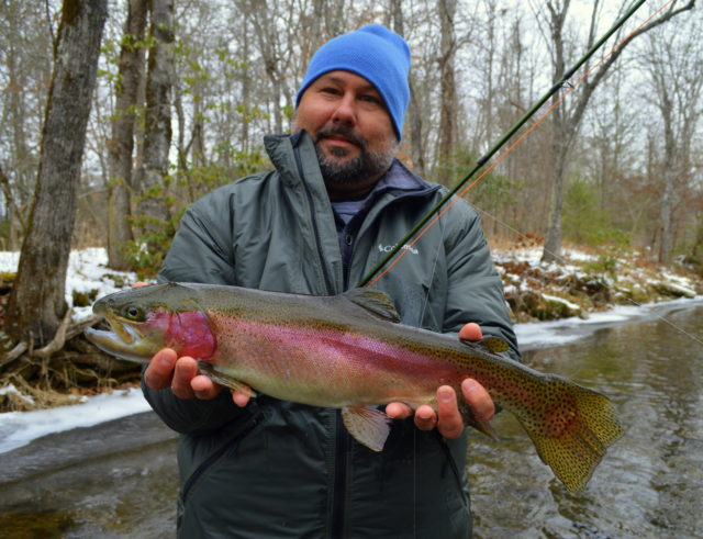 , Fly Fishing Guides the Great Smoky Mountains National Park Gatlingburg Bryson City Cherokee Pigeon Forge,Snow Day Fly Fishing, Fly Fishing in the snow, Winter Fly Fishing Great Smoky Mountains,