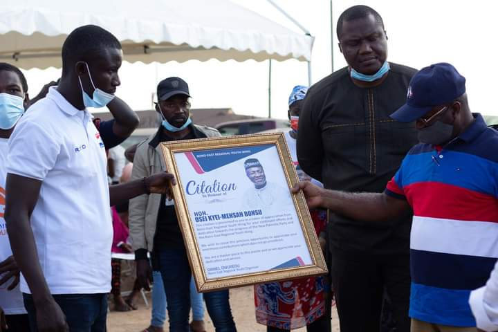 Bono-East NPP Youth Wing Honours Hon Osei Kyei-Mensah-Bonsu