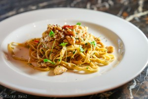 Linguine with Sand Crab at 1889 Enoteca