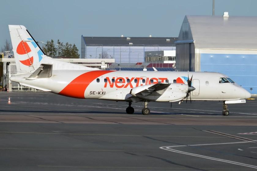 Nextjet,_SE-KXI,_Saab_340B_(16895461369)
