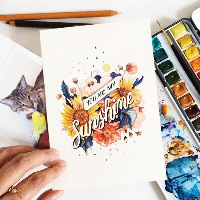 Watercoloured Words
