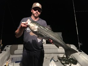 Boston Harbor night light tackle striper