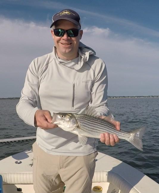 Boston Harbor Schoolie on the fly
