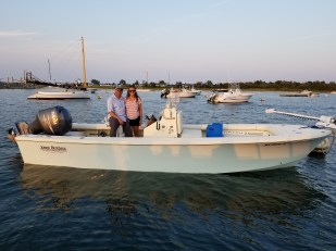 Jones Brothers Cape Fisherman 23 LTE Deceiver in Edgartown Harbor