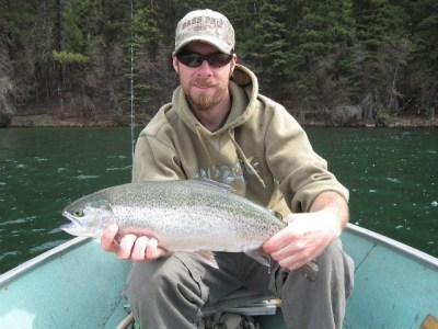 Kamloops area lakes early spring fishing ice off report for Lake travis fishing report