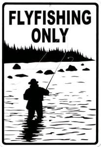 ... fly fishing only!