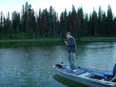 Sight Fishing BC Stillwater Trout ... fish on!