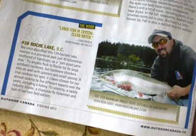 Roche Lake Resort BC Fishing Vacation - Outdoor Canada Top 40 Fishing Lakes